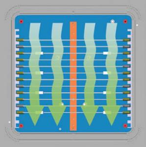 プラズマ洗浄中のチャンバー内部イメージ(EcoCoat)