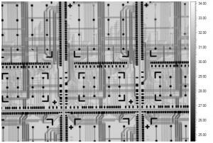 IC回路パターンのIR像